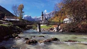 Άποψη της εκκλησίας σε Ramsau, Berchtesgaden, Γερμανία απόθεμα βίντεο