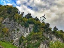 Άποψη της εκκλησίας Traunkirchen, Traunsee, σε Salzkammergut, Άνω Αυστρία Στοκ φωτογραφία με δικαίωμα ελεύθερης χρήσης