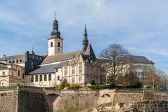 Άποψη της εκκλησίας του ST Michael στο Λουξεμβούργο Στοκ φωτογραφία με δικαίωμα ελεύθερης χρήσης