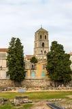Άποψη της εκκλησίας του ST Trophime σε Arles - τη Γαλλία Στοκ εικόνες με δικαίωμα ελεύθερης χρήσης