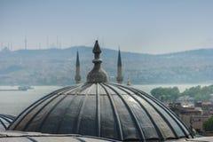 Άποψη της εξωτερικής άποψης του θόλου στην οθωμανική αρχιτεκτονική στέγες της Κωνσταντινούπ&o Μουσουλμανικό τέμενος Suleymaniye Τ Στοκ Φωτογραφίες