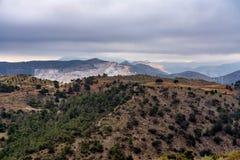 Άποψη της ερήμου Tabernas στην επαρχία της Αλμερία, στην Ισπανία στοκ εικόνες