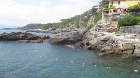 Άποψη της θάλασσας και της ακτής φιλμ μικρού μήκους