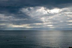 Άποψη της θάλασσας και του ουρανού Στοκ φωτογραφίες με δικαίωμα ελεύθερης χρήσης