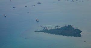 Άποψη της θάλασσας στη Σιγκαπούρη Στοκ εικόνες με δικαίωμα ελεύθερης χρήσης