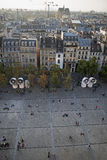 Άποψη της θέσης Georges Pompidou στοκ φωτογραφία
