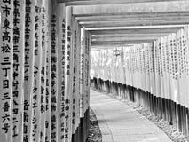Άποψη της ιαπωνικής πορείας torii στο Κιότο, Ιαπωνία Στοκ Φωτογραφία