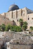 Άποψη της Ιερουσαλήμ του θόλου του μουσουλμανικού τεμένους Al-Aqsa Στοκ φωτογραφίες με δικαίωμα ελεύθερης χρήσης
