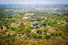 Άποψη της Ινδίας Arial πόλεων του Hyderabad Στοκ εικόνα με δικαίωμα ελεύθερης χρήσης