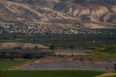 Άποψη της Ιορδανίας από τα βάρη Γκολάν στοκ εικόνες με δικαίωμα ελεύθερης χρήσης