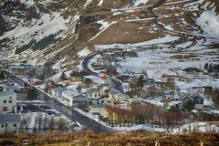 Άποψη της Ισλανδίας Reynisdrangar Στοκ Φωτογραφίες