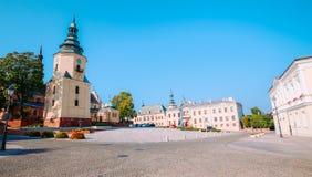 Άποψη της ιστορικής αρχιτεκτονικής σε Kielce/την Πολωνία Στοκ Εικόνες