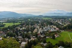 Άποψη της ιστορικής πόλης του Σάλτζμπουργκ, έδαφος Salzburger Στοκ φωτογραφία με δικαίωμα ελεύθερης χρήσης