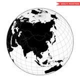 Άποψη της Κίνας από το διάστημα στοκ φωτογραφίες