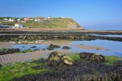 Άποψη της ΚΑΠ Gris Nez από την παραλία at low tide στο υπόστεγο δ ` Opale, Pas-de-Calais, Hauts de Γαλλία, Γαλλία Στοκ φωτογραφίες με δικαίωμα ελεύθερης χρήσης