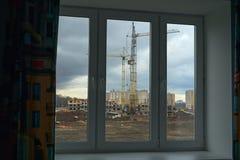 Άποψη της κατασκευής Στοκ φωτογραφία με δικαίωμα ελεύθερης χρήσης