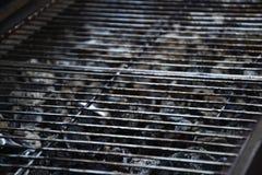 Άποψη της κενής καυτής σχάρας σχαρών σχαρών Στοκ Φωτογραφίες