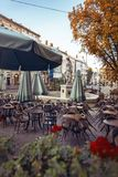 Άποψη της κεντρικής τετραγωνικής αγοράς σε Lviv Στοκ εικόνα με δικαίωμα ελεύθερης χρήσης