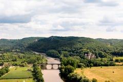 Άποψη της κοιλάδας Dordogne στοκ εικόνες με δικαίωμα ελεύθερης χρήσης