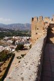 Άποψη της κοιλάδας από τον πύργο του μεσαιωνικού κάστρου σε Solobrenia στοκ εικόνα με δικαίωμα ελεύθερης χρήσης