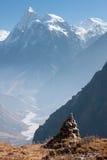 Άποψη της κοιλάδας Langtang με την ΑΜ Sishapangma στο υπόβαθρο, Langtang, Bagmati, Νεπάλ στοκ εικόνες με δικαίωμα ελεύθερης χρήσης