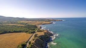 Άποψη της κονσέρβας Strandzha στην ακτή Μαύρης Θάλασσας άνωθεν Στοκ φωτογραφία με δικαίωμα ελεύθερης χρήσης