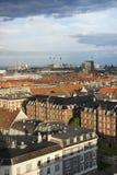 Άποψη της Κοπεγχάγης άνωθεν Στοκ Φωτογραφίες