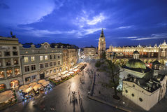 Άποψη της Κρακοβίας, Πολωνία στο ηλιοβασίλεμα στοκ φωτογραφίες