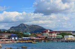 Άποψη της Κριμαίας του Sudak Στοκ εικόνα με δικαίωμα ελεύθερης χρήσης