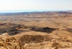 Άποψη της κόκκινης ερήμου στο Ισραήλ στοκ εικόνα