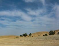 Άποψη της κόκκινης ερήμου στο Ισραήλ στοκ φωτογραφία