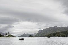 Άποψη της λίμνης Kishorn από την προκυμαία Plockton Στοκ φωτογραφία με δικαίωμα ελεύθερης χρήσης