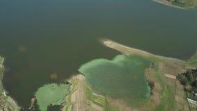 Άποψη της λίμνης Paoay, Φιλιππίνες απόθεμα βίντεο