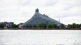 Άποψη της λετονικής εθνικής βιβλιοθήκης στη Ρήγα, Λετονία, στις 25 Ιουλίου 2018 στοκ εικόνες
