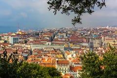 Άποψη της Λισσαβώνας Στοκ Εικόνες