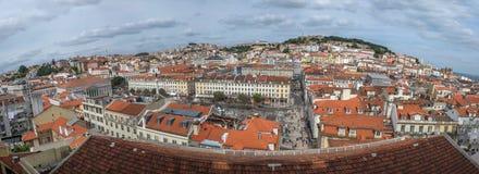 Άποψη της Λισσαβώνας Στοκ Φωτογραφία