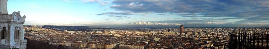 Άποψη της Λυών Στοκ Φωτογραφίες