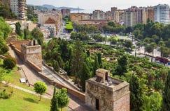 Άποψη της Μάλαγας, Ισπανία Στοκ Φωτογραφία