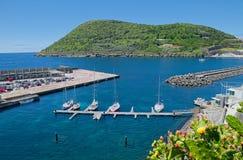 Άποψη της μαρίνας, Angra, Terceira, Αζόρες Στοκ φωτογραφία με δικαίωμα ελεύθερης χρήσης