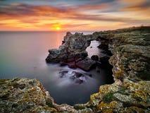 Άποψη της Μαύρης Θάλασσας από την ακτή στοκ εικόνα