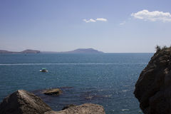 Κριμαία. Noviy Svet. Μαύρη Θάλασσα. Στοκ Εικόνα