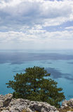 Άποψη της Μαύρης Θάλασσας. Στοκ Φωτογραφία