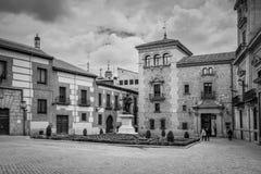 Άποψη της Μαδρίτης παλαιό Plaza de Λα Villa στην παλαιά πόλη της Μαδρίτης, Στοκ Φωτογραφία