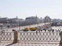 Άποψη της μεγάλης γέφυρας Moskvoretsky Στοκ Εικόνα