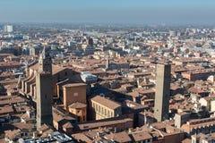 Άποψη της Μπολόνιας, Ιταλία Στοκ εικόνα με δικαίωμα ελεύθερης χρήσης