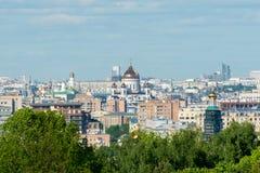Άποψη της Μόσχας άνωθεν Στοκ Εικόνα