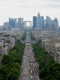 Άποψη της νέας αψίδας στο Παρίσι Στοκ Εικόνες