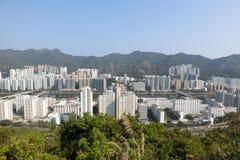 Άποψη της νέας πόλης Shatin από το περίπτερο λιονταριών στο Χονγκ Κονγκ Στοκ εικόνες με δικαίωμα ελεύθερης χρήσης