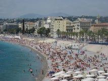 Άποψη της Νίκαιας στο CÃ'te dAzur, Γαλλία στοκ εικόνες