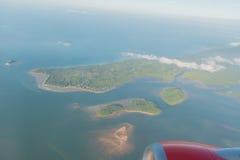Άποψη της Νίκαιας σχετικά με το αεροπλάνο Στοκ εικόνα με δικαίωμα ελεύθερης χρήσης